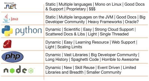 Web development programming languages