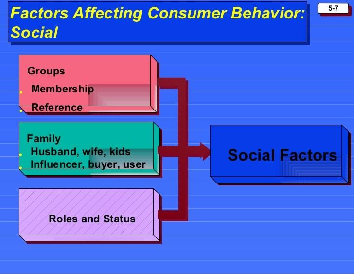 Factors Affecting Consumer Behavior: Social