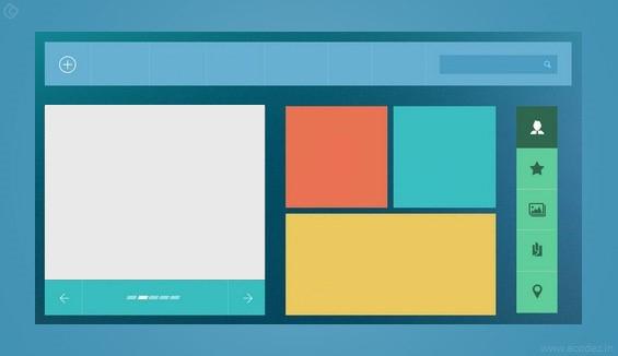 Web Design Flat Design Trend