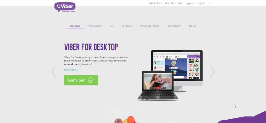 Viber Landing Page