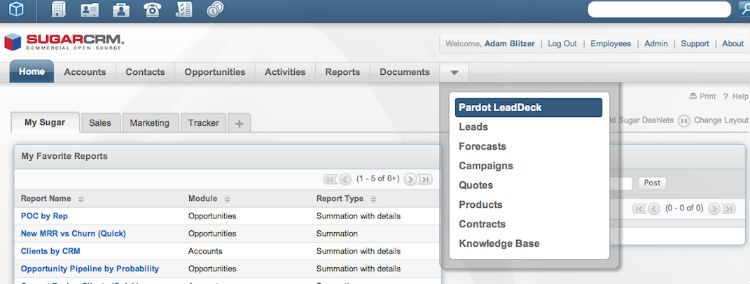 WordPress SugarCRM Integration