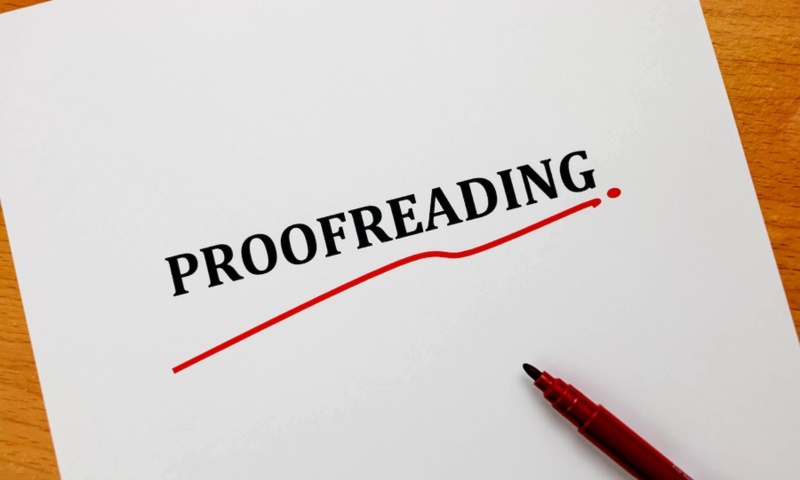 Proofreading an article