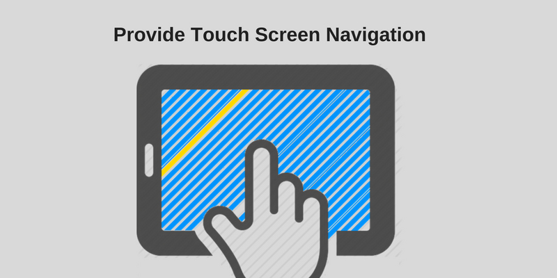 Provide Touch Screen