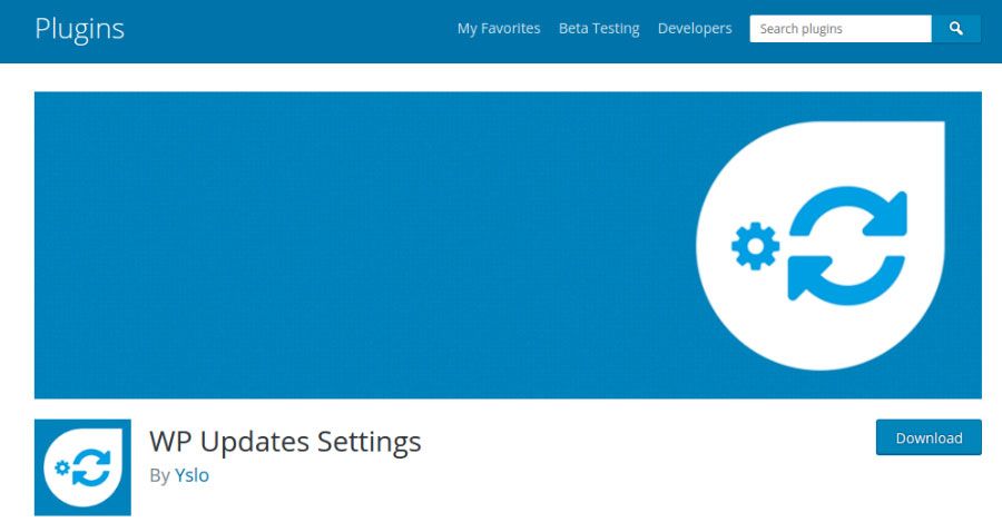 WP Updates Settings