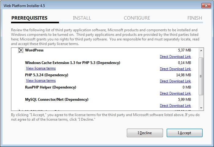 Installing Wordpress on Microsoft IIS by Using the Microsoft Web