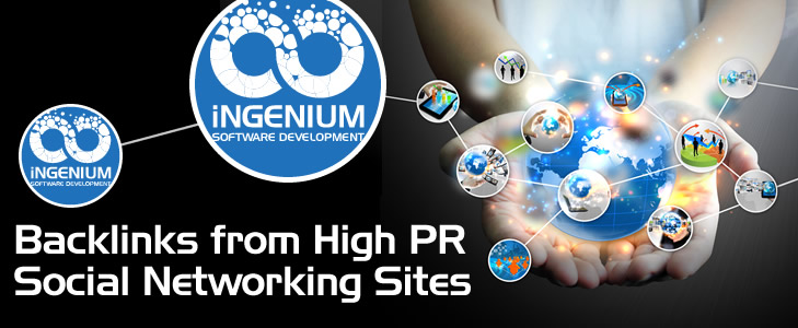 Backlinks from High PR Social Networking Sites